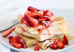 EASY Strawberry Crepes (made in the blender)