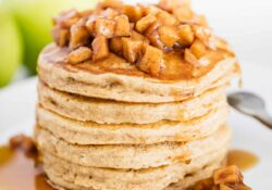 Fluffy Apple Cinnamon Pancakes - I Heart Naptime