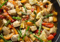 Lemon Sesame Chicken Stir Fry